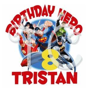 Other - Justice League Custom Birthday Shirt